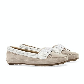 Dress Shoes Sebago Bala - Beige Taupe Suede White Leather