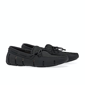 Dress Shoes Męskie Swims Braided Lace Loafer - Black