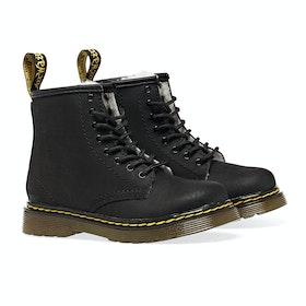 Dr Martens 1460 Serena Kid's Boots - Black Mohawk