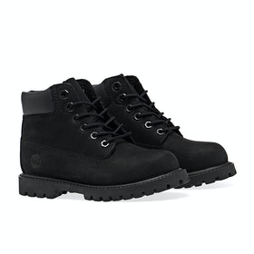 Timberland Youth 6 In Premium WP Medium Fit Kinder Stiefel - Black Nubuck