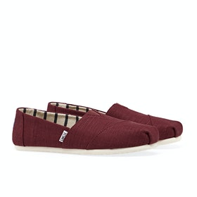 Toms Alpargata Slip On Trainers - Black Cherry