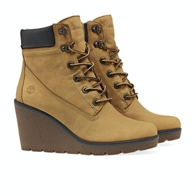 Stivali Donna Timberland Paris Height 6in - Dark Yellow Nubuck
