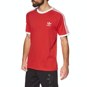 Adidas Originals 3 Stripes Short Sleeve T-Shirt - Lush Red