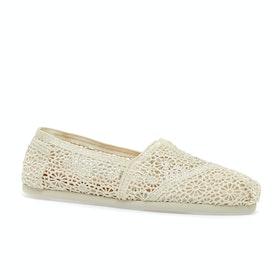 Scarpe Slip On Donna Toms Crochet Alpargata - Natural
