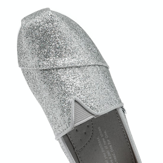 Toms Glimmer Classics Girls Slip On Shoes