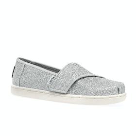 Scarpe Slip On Toms Glimmer Mini - Silver