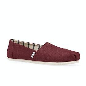 Toms Alpargata Slip On Shoes - Black Cherry