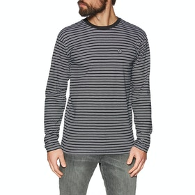 Vans Striped Long Sleeve T-Shirt - Black White