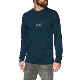 Vans Easy Box Long Sleeve T-Shirt - Navy Gradient