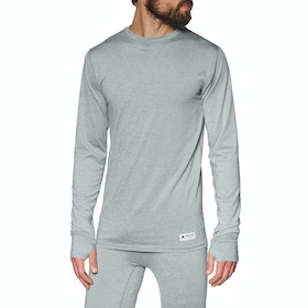 Burton Lightweight Crew Thermal Base Layer Top - Gray Heather