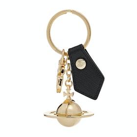 Porta-chaves Senhora Vivienne Westwood Sofia 3D Orb Light Gold - Black