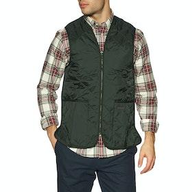 Barbour Quilted Zip In Liner Men's Gilet - Sage Green