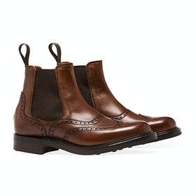 Buty Damski Cheaney Made in England Victoria Brogue Chelsea - Dark Leaf