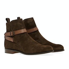 Buty Damski Cheaney Made In England Lucinda - Plough Suede With Conker Strap