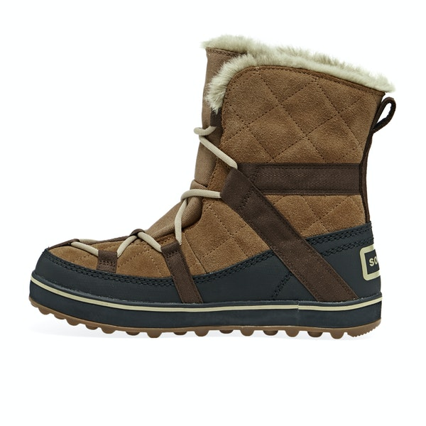 Sorel Glacy Explorer Shortie Faux Fur Womens Boty