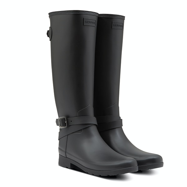 Hunter Ref Back Adjustable Tall Ankle Starp Women's Wellington Boots