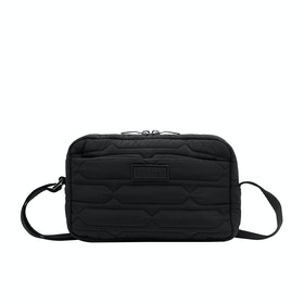 Hunter Refined Quilted X-body Ladies Handbag - Black