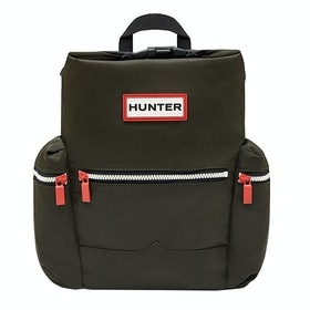 Hunter Original Mini Topclip Nylon Rucksack - Dark Olive
