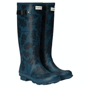 Hunter National Trust Print Norris Field Ladies Wellington Boots - Dusk