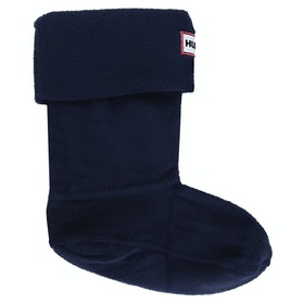 Hunter Original Fleece Childrens Welly Socks - Navy