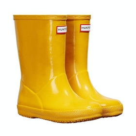 Hunter Original First Gloss Childrens Wellington Boots - Yellow