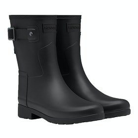 Hunter Original Refined Short Ladies Wellington Boots - Black