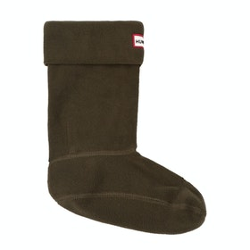 Hunter Boot Short Wellington Socks - Dark Olive