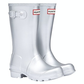 Hunter Original Metal Wellington Boots - Silver