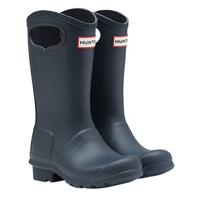 Hunter Original Pull - On Kids Wellingtons - Navy