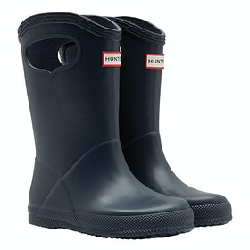 Hunter First Classic Pull - On Kids Wellingtons - Navy