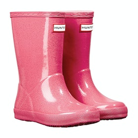 Hunter First Classic Starcloud Girls Wellingtons - Arcade Pink