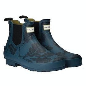 Hunter National Trust Print Norris Chelsea Women's Wellington Boots - Dusk