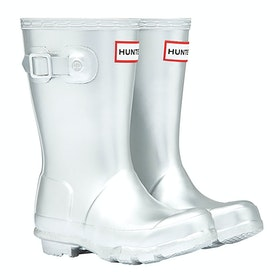 Hunter Original Metal Gummistiefel - Silver