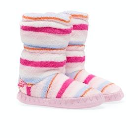 Joules Padabout Pantoffeln - Pink Multi Stripe