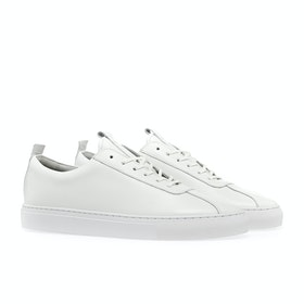 Grenson Sneaker 1 Shoes - White Calf