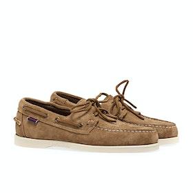 Sebago Dockside Portland Suede Dress Shoes - Brown Cognac
