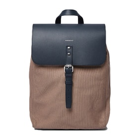 Sandqvist Alva Small Rucksack - Earth Brown With Navy Leather