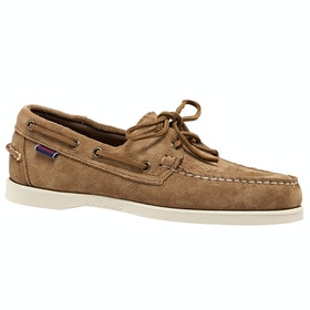 Sebago Dockside Portland Suede , Dress Shoes - Brown Cognac