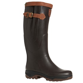 Aigle Parcours 2 Signature Wide Foot Wellies - Brun