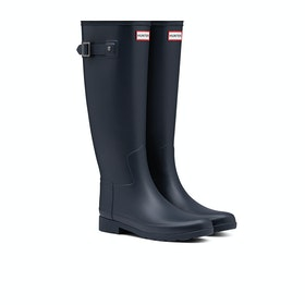Hunter Original Refined Womens Wellies - Navy