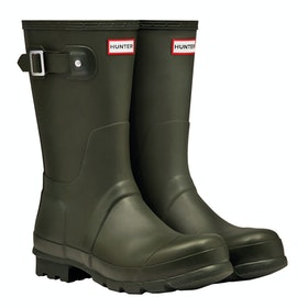 Hunter Original Short Wellies - Dark Olive
