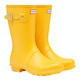 Hunter Original Short Ladies Wellies - Yellow