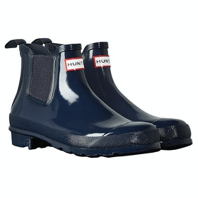 Hunter Original Chelsea Gloss Ladies Wellies - Navy
