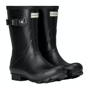 Hunter Norris Field Short Ladies Wellingtons - Black