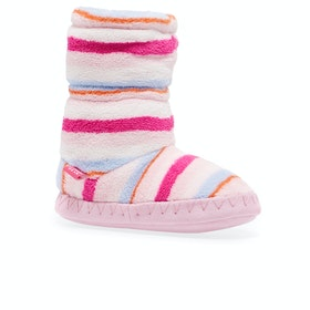 Joules Padabout Girls Slippers - Pink Multi Stripe
