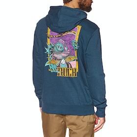RVCA Lizard Wizard Pullover Hoody - Seattle Blue