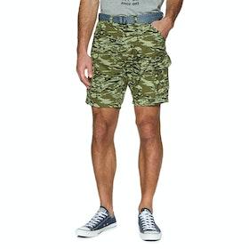 O'Neill Filbert Cargo Shorts - Green Aop Brown