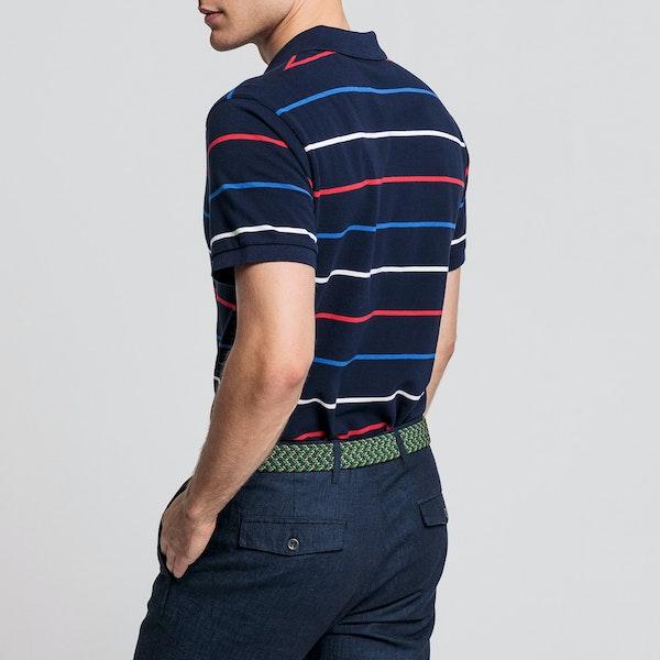 Gant Breton Stripe Pique Rugger Polo Shirt