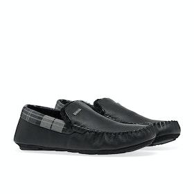 Barbour Monty Men's Slippers - Black Leather