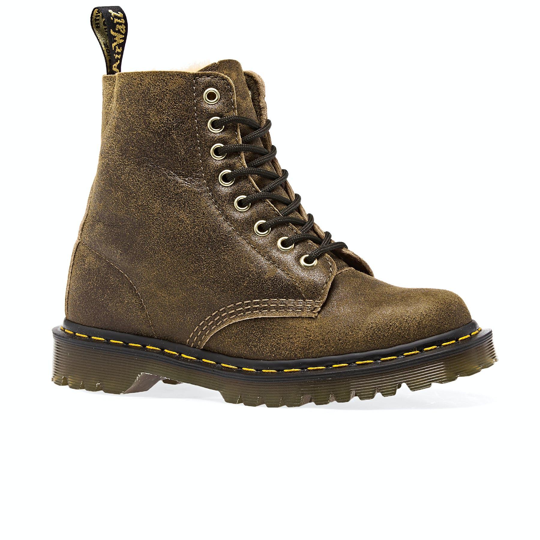 Dr Marten 1460 Glitter Junior Gunmetal Lace Up Ankle Boot Child Uk 12 Vegan